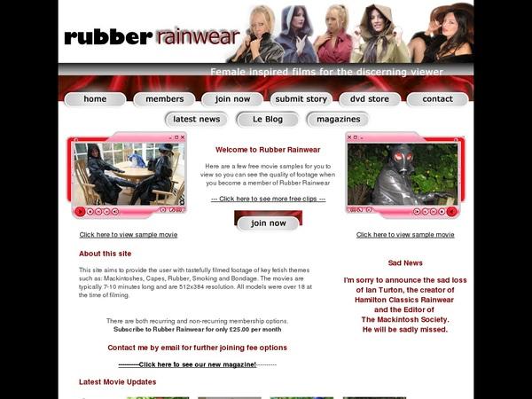 Rubber Rainwear Join With Phone