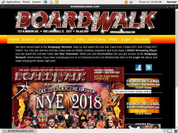Valid Boardwalk Bar Passwords